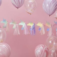 Iridescent Unicorn Party Bunting Banner Birthday Christening Decoration