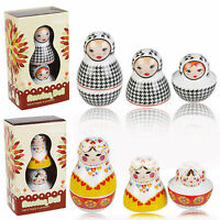 Russian Dolls Novelty Salt And Pepper Pots Shakers Cellar Cruet Condiment Set