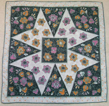 Vintage WOMENS Square Scarf Retro ABSTRACT FLOWER