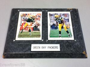 Green Bay Packers Brett Favre Robert Brooks card plaque sign football NFL RR1