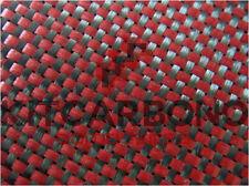 TEJIDO DE CARBONO/ ROJO 30x20cm (A4) 3K PLAIN
