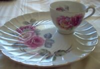 Porcelain Tea Plate & Tea Cup Floral Pattern English