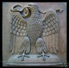 Roman eagle wall plaque stone sculpture home garden decor art animal