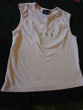 "Pink Sleeveless Kangol V Neck T-Shirt Top in Size 16 - NWOT - Chest 40"" - 42"""
