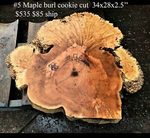 Maple burl   cookie cut   river table   picture frame   #5