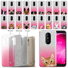 "For T-mobile Revvl 2/ Alcatel 3 5052 5.5"" 2019 Animal 2 Tone Pink Tpu Case Cover"