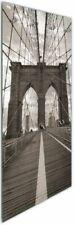 Wallario Glas Garderobe 50 x 125 cm, Motiv: Brooklyn Bridge New York reise usa