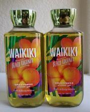 2 Bath & Body Works Waikiki Beach Coconut Shower Gel Wash 10 fl.oz