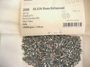 144 swarovski hot-fix flatbacks,16ss crystal AB #2058   DISCOUNTED !!!!!!!!!!!!!