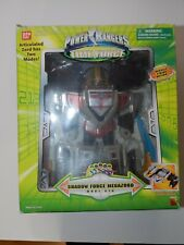 POWER RANGERS SHADOW FORCE MEGAZORD MODE RED TIME FORCE #10073 BANDAI WITH BOX