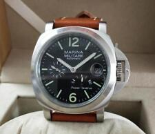 PARNIS Automatic mechanical Men's watch Power Reserve Indicator brushed case
