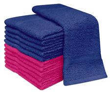 PACK OF 12 FACE CLOTHS TOWELS 100% COTTON FLANNELS WASH CLOTHS 400 GSM