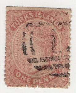 1879 Turks Island Scott #5 1d Used Queen Victoria Wtmk Small Star