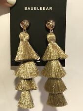 Gabriela Tassel Fringe Earrings BAUBLEBAR Gold Tone
