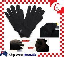 MEN MENS WINTER Thermal Warm Knitted  Knit GLOVES Black FULL FINGER New