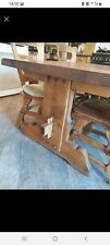 More details for solid oak table and chairs