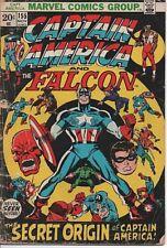 MARVEL COMICS CAPTAIN AMERICA #155 VG+ NOV. 1972  CAP AND FALCON! SECRET ORIGIN