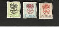 1962 Papua & New Guinea SCOTT #164-66 Malaria Eradication  Θ used stamp set