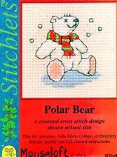 Stitchlets X Stitch Kit, Polar Bear (without card)