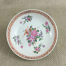 Antique Chinese Porcelain Dish Saucer Plate Qianlong Famille Rose Hand Painted