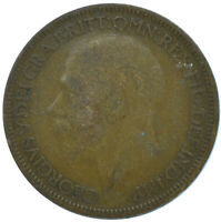 1927 HALF PENNY OF GEORGE V.     #WT15648