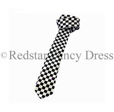 POLICE TIE CHEQUERED FANCY DRESS PC ACCESSORY COP POLICEMAN POLICEWOMAN