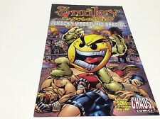 SMILEY PSYCHOTIC BUTTON WHACKY WRESTLING SPECIAL #1 (CHAOS/1215-S131) LOT OF 1