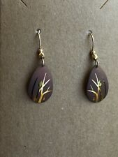 Holly Yashi Gold Signed Cattail Earrings