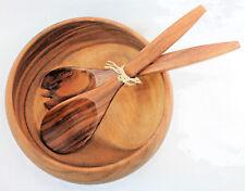 cuenco y cubiertos para ensalada Madera Madera de acacia Ø 25cm altura 10cm