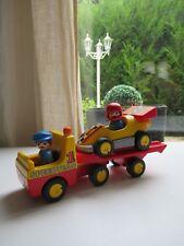 🍓 Playmobil 123 Voiture De Course Avec Camion De Transport 6761 Complet