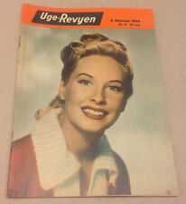 PENNY EDWARDS FRONT COVER LIPSTICK ADD BACK COVER VINTAGE Danish Magazine 1954