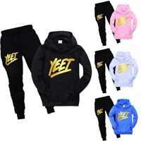 Kids YEET LazarBeam Merch Gaming Youtuber Pocket Hoodie Hooded+Trousers 2PCS Set