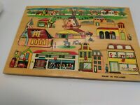"""VINTAGE SIMPLEX WOODEN PUZZLE MADE in HOLLAND, 11 1/2"""" x 8"""""""