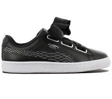 Puma Basket Heart Oceanaire Women's Sneaker Shoes Black Trainers 366443-01