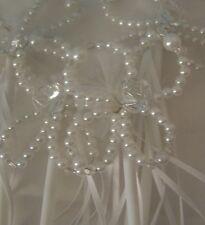 "Princess Wands Beaded Cosplay Ribbon White 4 Birthday Party 11"""
