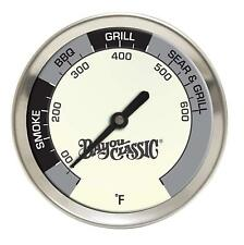 Bayou Classic thermometer for Smoker Bbq Grill Temperature Gauge Stainless New
