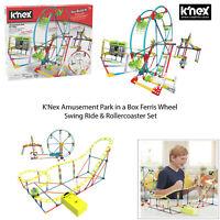 K'Nex Kids Children Building Rollercoaster Ferris Wheel Amusement Park In A Box