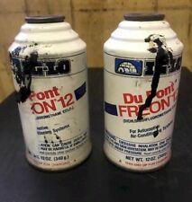 R12 FREON REFRIGERANT (2) 12 oz cans DUPONT IGLO R12 Freon
