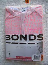 BNIP Baby Girl's Bonds Pink & Orange Zip Wondersuit/Coverall/Sleeper Size 00