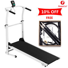 Folding Manual Treadmill Walking Machine +Bearing Speed Jump Rope Fitness Gym