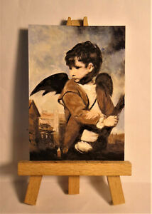 Cupid as a Link Boy ACEO Original PAINTING by Ray Dicken a Gustave Courbet