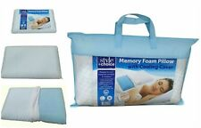 Single Slim bed Pillow (Memory Foam) with Cooling Cover/Comfortable Neck Support