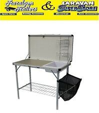 Kitchen hand Camp camping table bench with sink folding portable outdoor ACC528