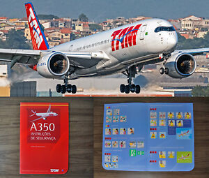 SAFETY CARD AIRBUS A350 TAM AIRLINES BRAZIL RARE