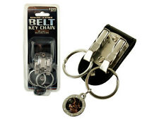 New Leather Double Belt Clip Keychain Holder with Two Clips for Keys