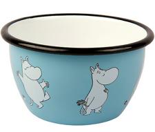 More details for moomin muurla enamel bowl 6dl moomintroll