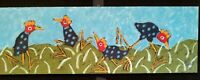 John Sperry Outsider Southern Primitive Folk Art Brut Painting Funkadelic birds