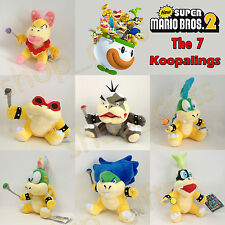 7 New Super Mario Bros. 2 Koopalings Plush Ludwig Von Larry Lemmy Koopa Soft Toy