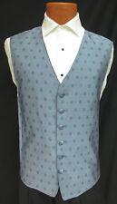 Men's Midnight Blue Perry Ellis Fullback Tuxedo Vest Cruise Formal Wedding Prom