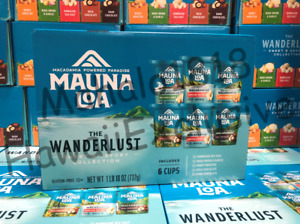 -NEW LOOK-  6 Pack Mauna Loa Macadamia Nuts Wanderlust Sweet & Savory Collection